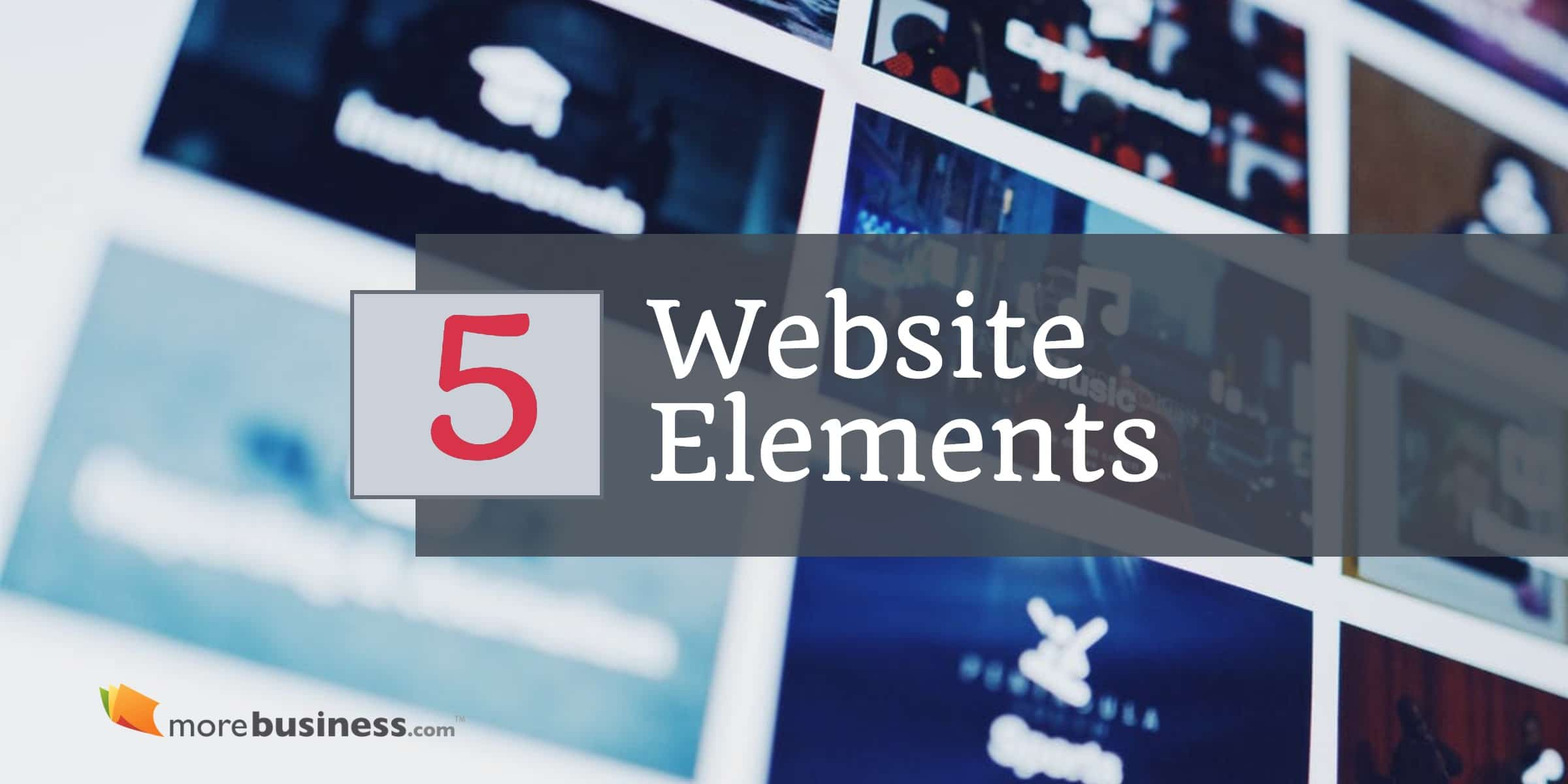 website elements - what makes a great website
