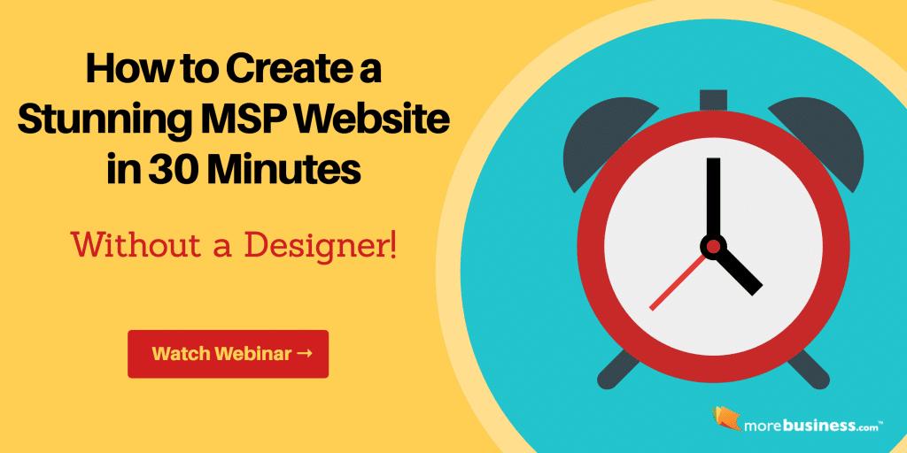 msp marketing website - msp website design