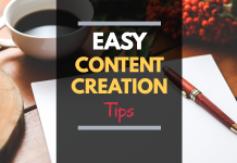 easy content creation - content creation tips