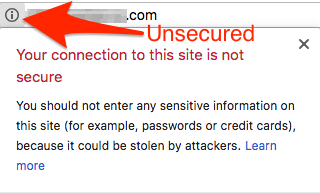 SSL unsecured