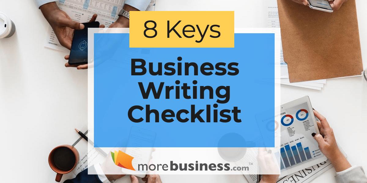 business writing checklist