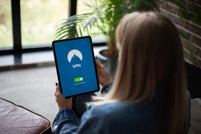 Tablet Running VPN