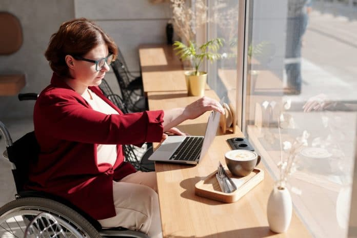 disabled employees working from home