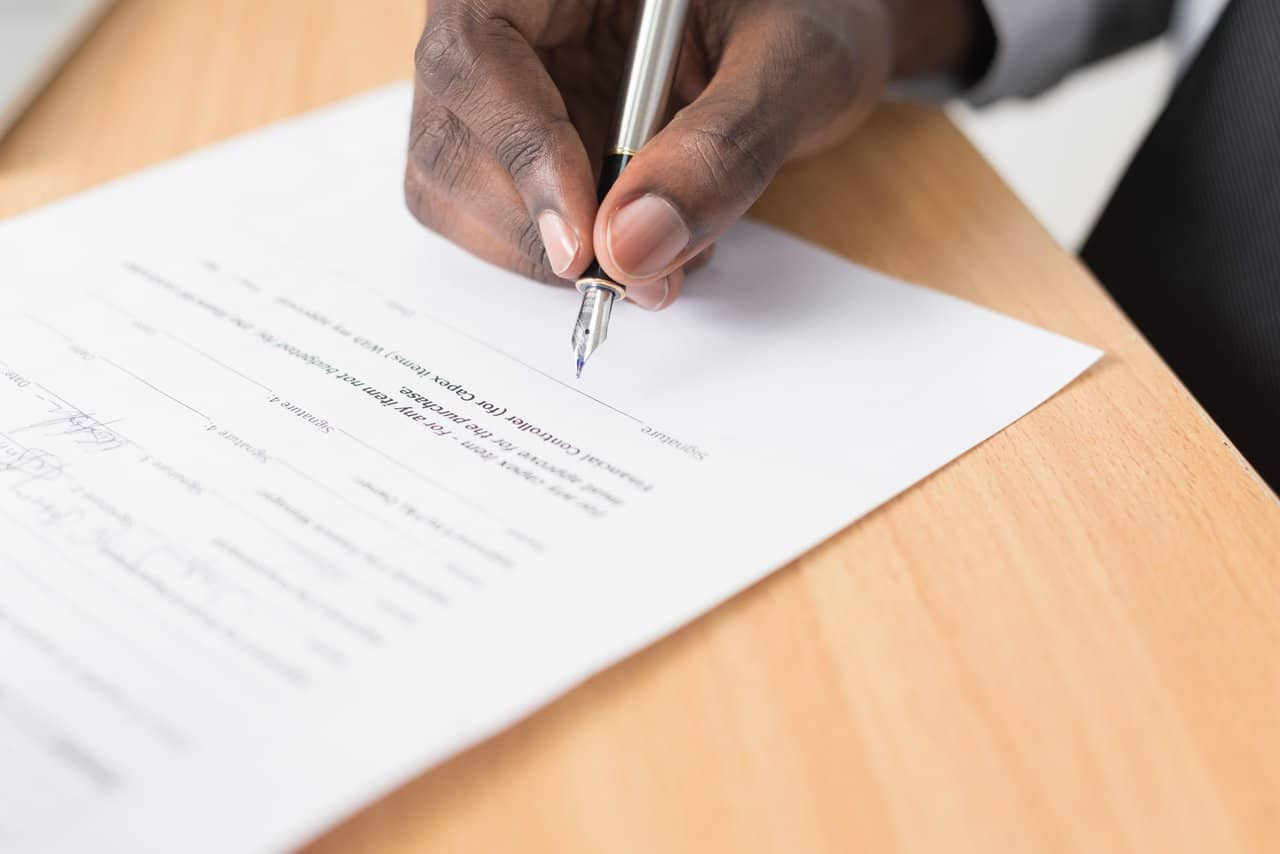 write a business contract