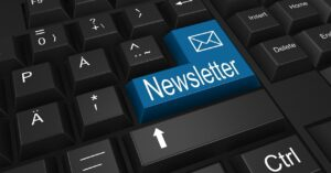 email newsletter from blog