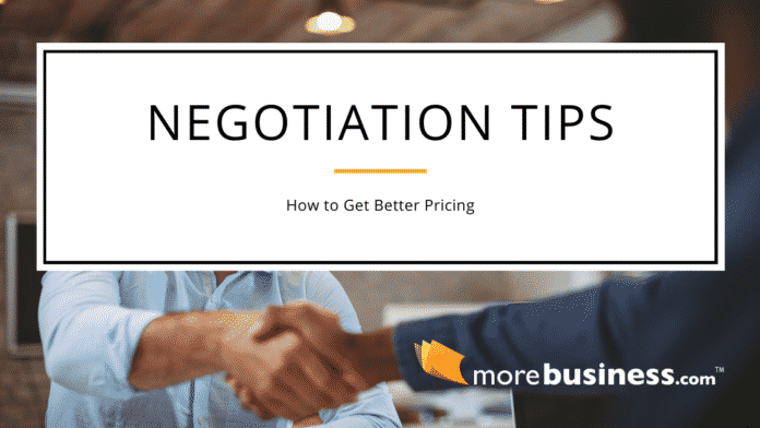 negotiation tips for vendors