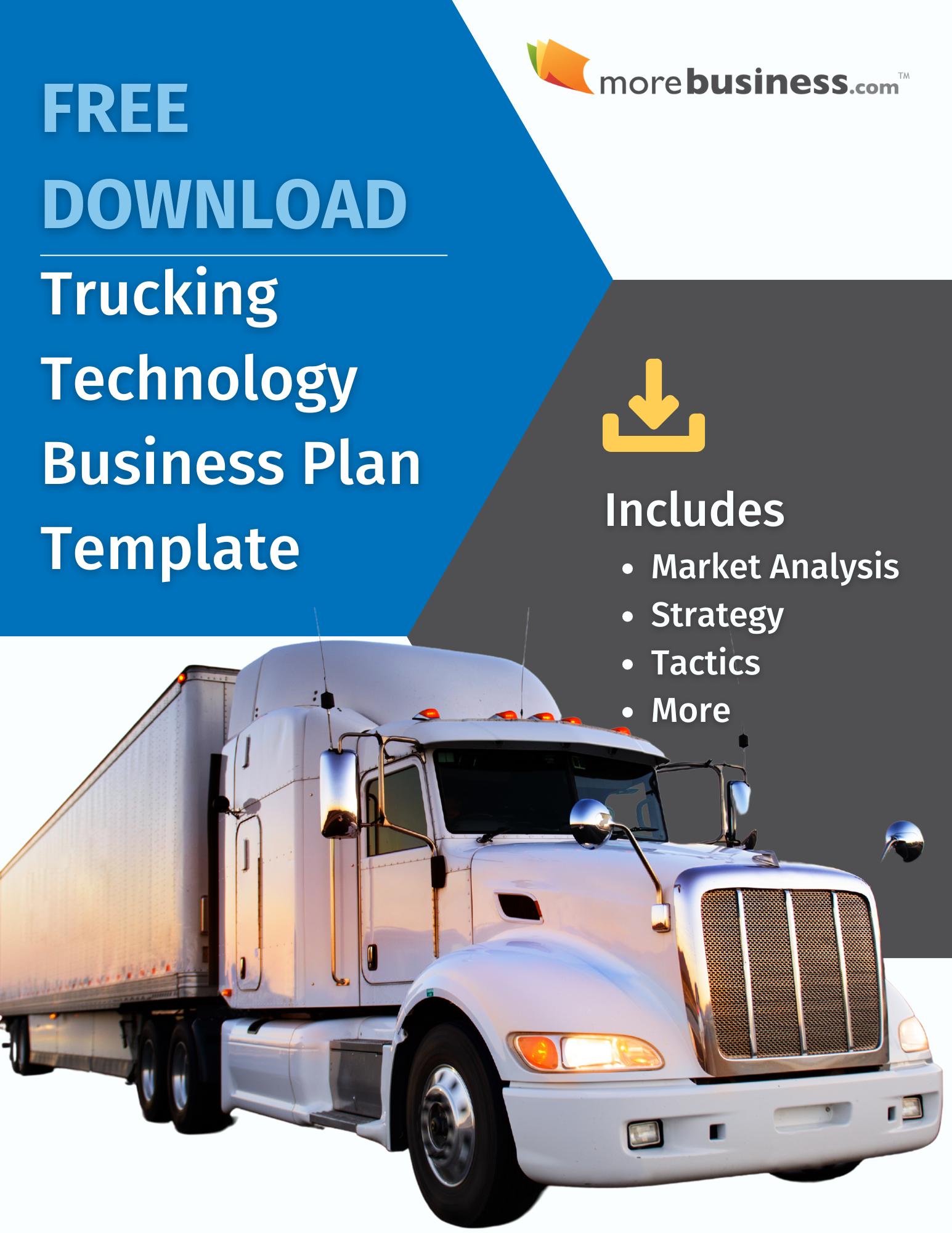 trucking business plan - free download
