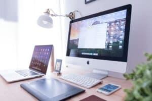 Computer on Desktop