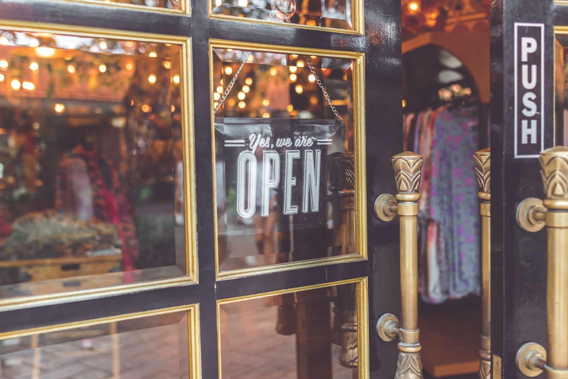 Shop front entrance