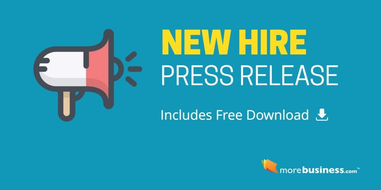 New Hire Press Release – Free Download, Editable Microsoft Word Format